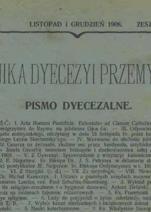 Kronika diecezji przemysl 1908