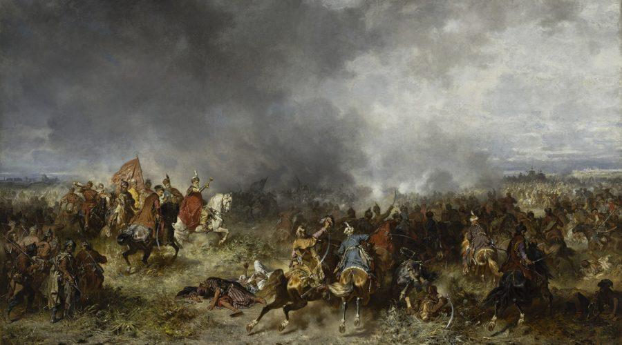 MP 5056 MNW; Brandt, Józef (1841-1915) (malarz); Chodkiewicz pod Chocimiem; 1867; olej; płótno; 190 x 337 [207 x 355 x 8,5]